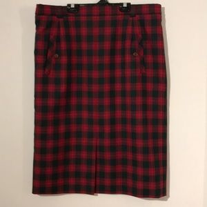 Vintage made in Poland checked skirt